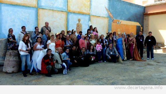 Las musas romanas desfilan en Cartagena