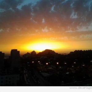 Cayendo el sol