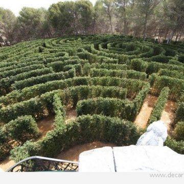 Piérdete en el laberinto vegetal más grande de España